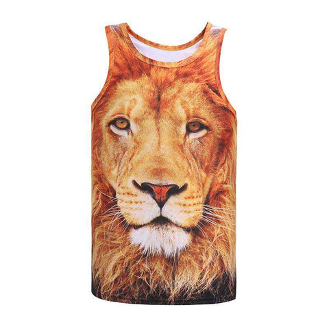 3D Novelty Print Tank Tops Sleeveless Men