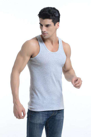 Bodybuilding Summer O Neck Cotton Casual Tank Top