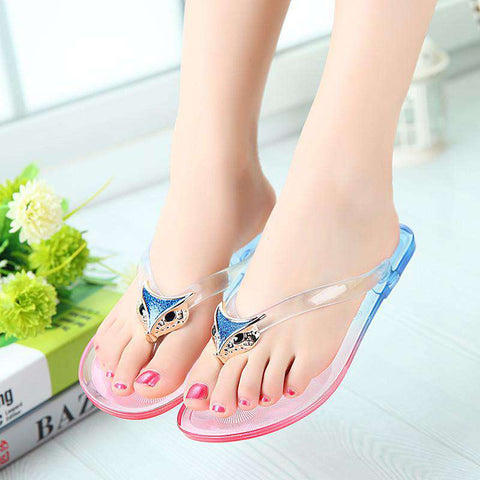 Jelly Sandals Flip-Flops Women Shoes Flat Beach