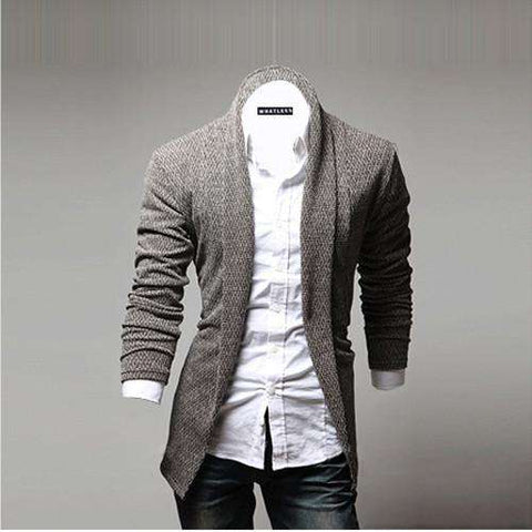 Mens Open Shawl Cardigan Of Various Styles Shawl Collar Sweater