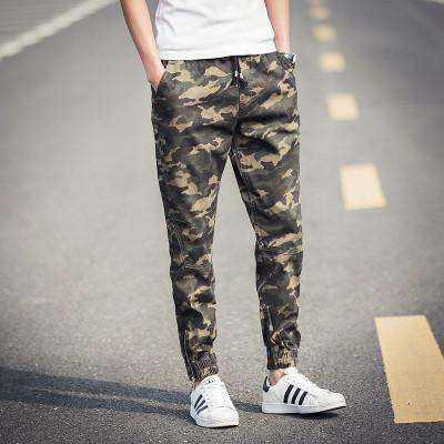 Camouflage Sweat Pants Men Jogger Pencil Pants