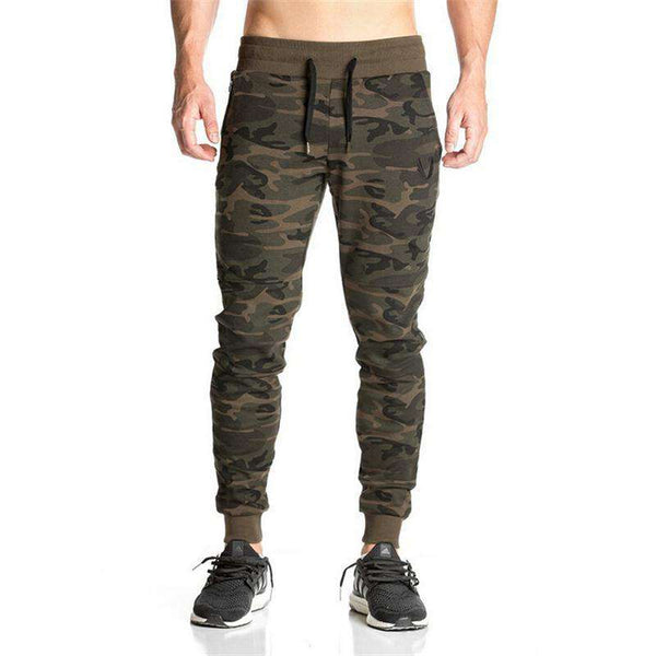 Men's casual camouflage sweatpants joggers pants skinny trousers