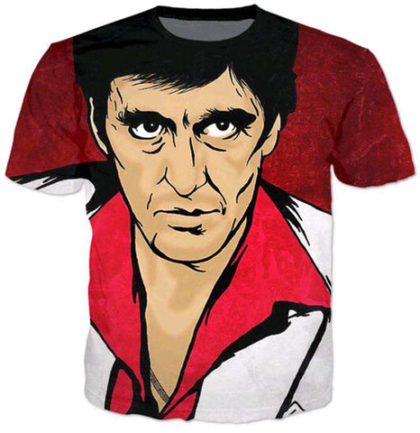 3D Film Character T-Shirt Men