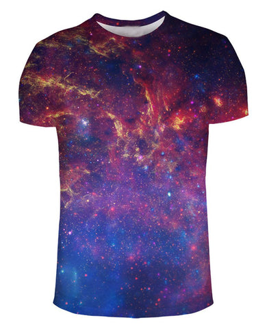 Space 3d All-Over Print T Shirt High-Quality Summer