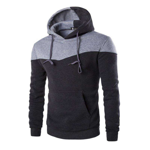 Hoodie Decorative Pocket Sweatshirt Suit Slim Fit Men Hoody