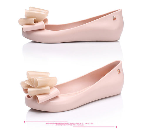 Women Bowknot Jelly sandals beach shoes