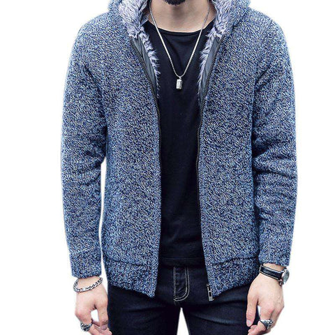 Cardigan Men Sweaters Long Sleeved Hooded