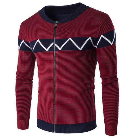 Casual Knit Long Sleeve Men's sweater cardigan