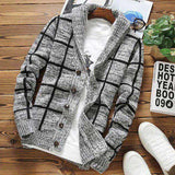 Cardigan Sweaters Men Thick Long Sleeve Cotton