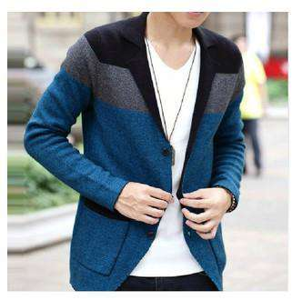 Casual Slim Cardigan Sweater Suits