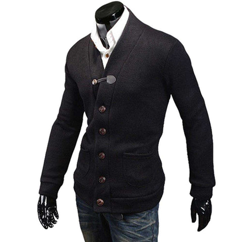 Long Sleeve Button Up Casual Warm Sweaters Men