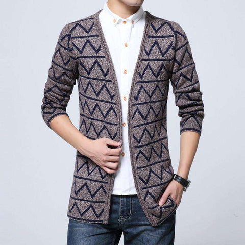 Casual Mens Spring Autumn long sweater