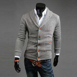 Knitted Cardigans Male Casual Comfortable Easy Match Sweaters
