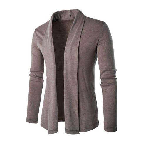 Cardigan Slim No Loose Coat Man V Collar Knitting Sweater Men