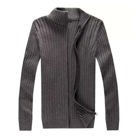 Long Sleeve Casual Men Cardigan Warm Cotton Knitted Sweater