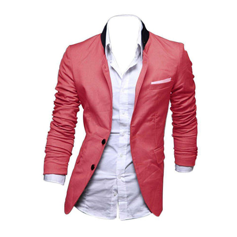 Casual Slim Fit Two Button Suit Blazer Coat for men