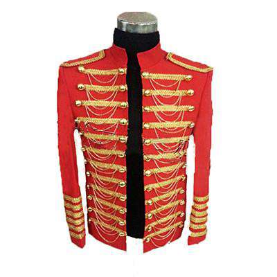 Men Blazer Royal Clothing Star Stage Nightclub Singer Suit