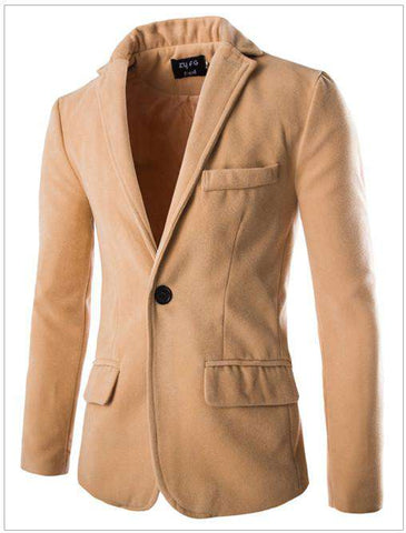 Casual Unique Slim Fit Blazer Men Suit Coat