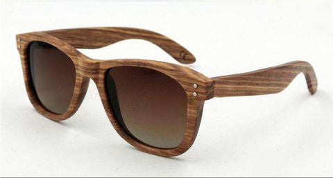Handmade Retro Wooden Frame Sunglasses Polarized Lens Unisex