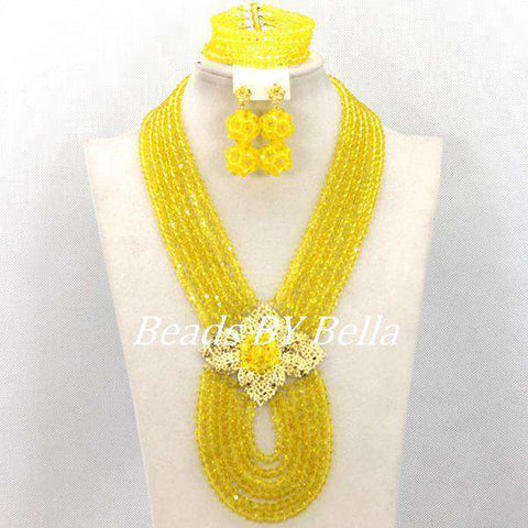 Women Bridal African Beads Jewelry Set
