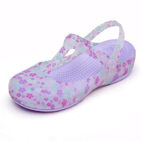 Women Beach Jelly Soft Bottom Non-slip Slippers