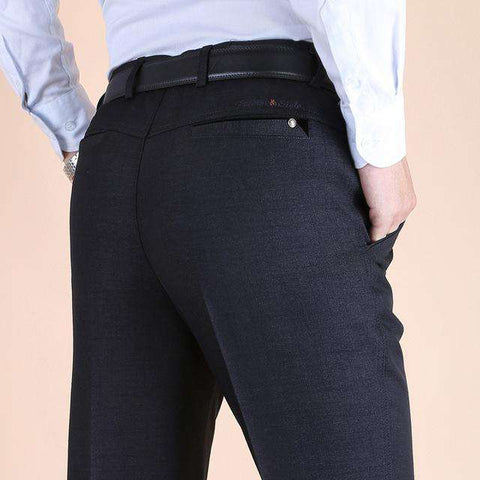 Men's High Waist Long Loose Dress Pants Grey