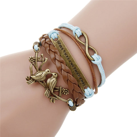 vintage rudder anchor bracelet for women