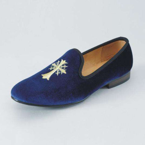 Men's Velvet Embroidery Party Flats