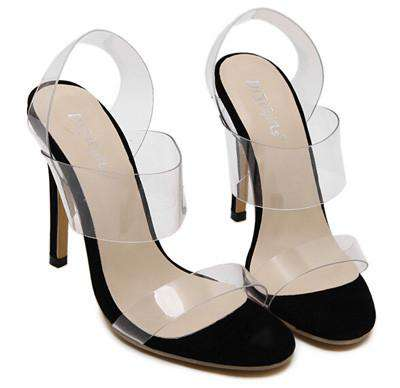 women crystal wedding shoes transparent sandals High Heels jelly