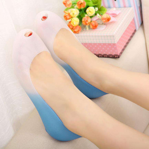 Peep Toe Jelly Casual Sandals Women Flat Shoes