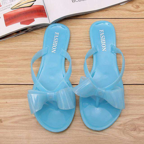 Jelly Sandals Women Flower Flat Sexy Casual