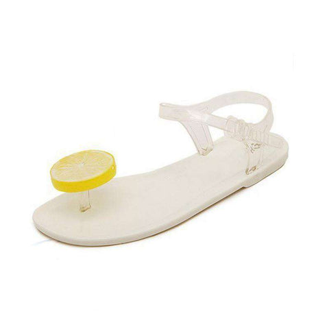 Cute Lemon Flip Flops Sandals Jelly Sandal Shoes Woman