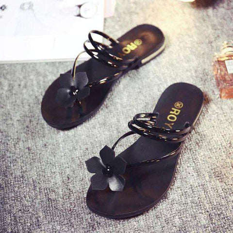 Flat Jelly Sandals Channels Shoes Women Wedges