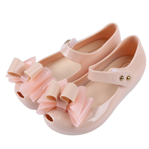 Women Casual Jelly Sandals Shoes Big Bows