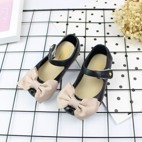 Women Bows Jelly casual Sandals Crystal Shoes