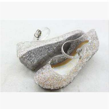 flats women casual Soft Shoes Blue Jelly Crystal