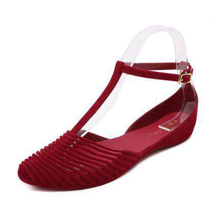 flat sandals women casual beach vintage jelly shoes