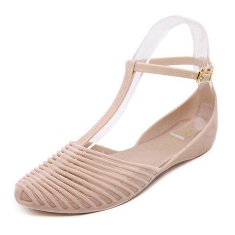 Flat Sandals Women Jelly Shoes Super Soft Beach style vintage
