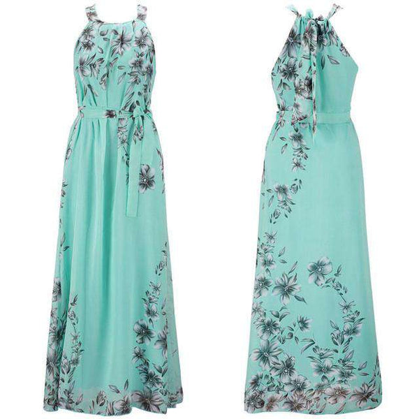 Bohemia Chiffon Floor Length Long Maxi Dress