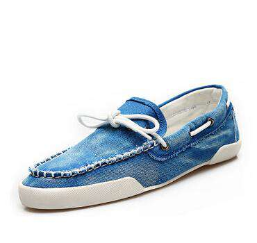 Men's Casual Jeans Canvas Slip On Loafer Shoes