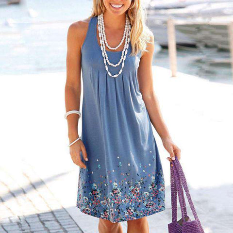 Casual Beach boho Sundress A Line