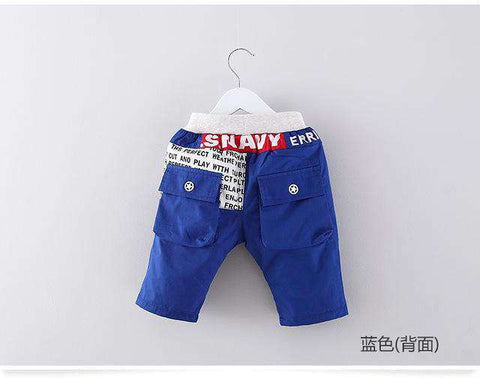 summer solid color cotton twill kids shorts
