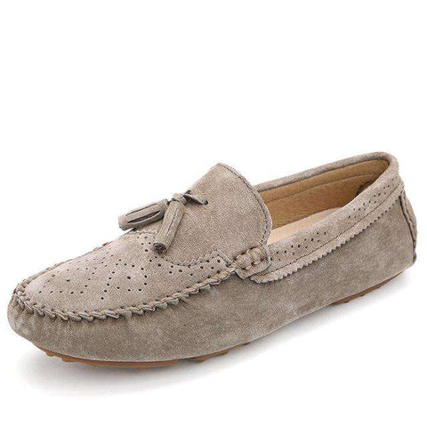Men's Slip On Genuine Leather Moccasin with Tassel
