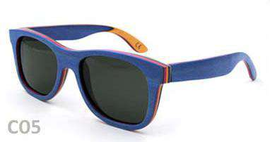 Skateboard Wooden TAC Polarized Sunglasses UV Protect,Unisex