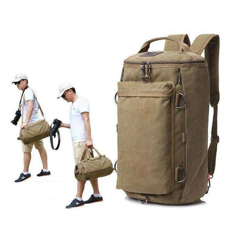 Men's Canvas Vintage Large Capacity Multifunctional Travel Bag