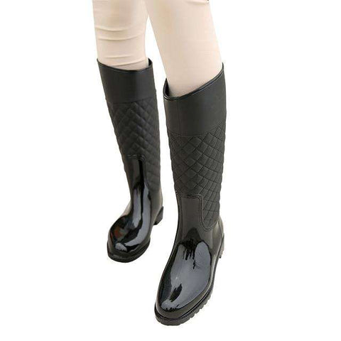 Knee-High Casual Women Rain Boots