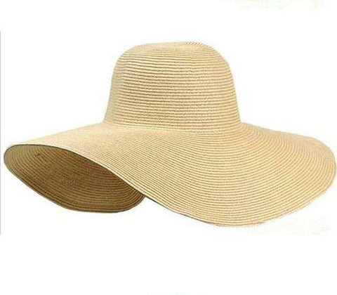Black Oversize Sunbonnet Beach Hat