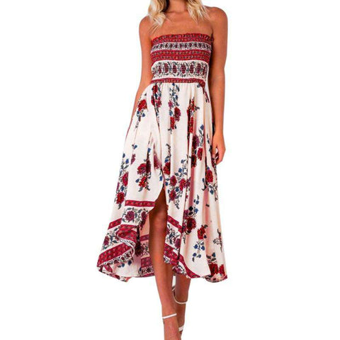 Floral Off Shoulder Long Summer Dress