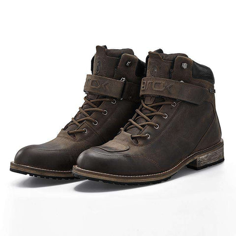 Men's Lace Up Round Toe Casual Boots Brown