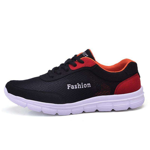 Men's Air Mesh Running Cushion Outdoor Walking Sport Sneakers Black